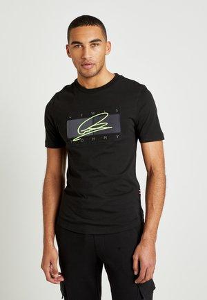 LEWIS HAMILTON SIGNATURE LOGO TEE - T-shirt imprimé - black