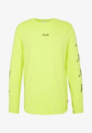 LEWIS HAMILTON H LONG SLEEVE TEE - T-shirt à manches longues - yellow
