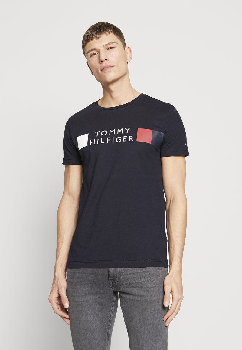 Tommy Hilfiger - T-shirt con stampa - blue