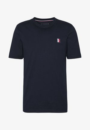 ICON LABEL RELAX TEE - T-shirt con stampa - blue
