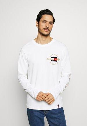 ICON LONG SLEEVE TEE - Bluzka z długim rękawem - white