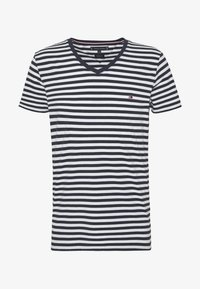 Tommy Hilfiger - STRETCH SLIM FIT VNECK TEE - T-shirt basique - blue/white - 4