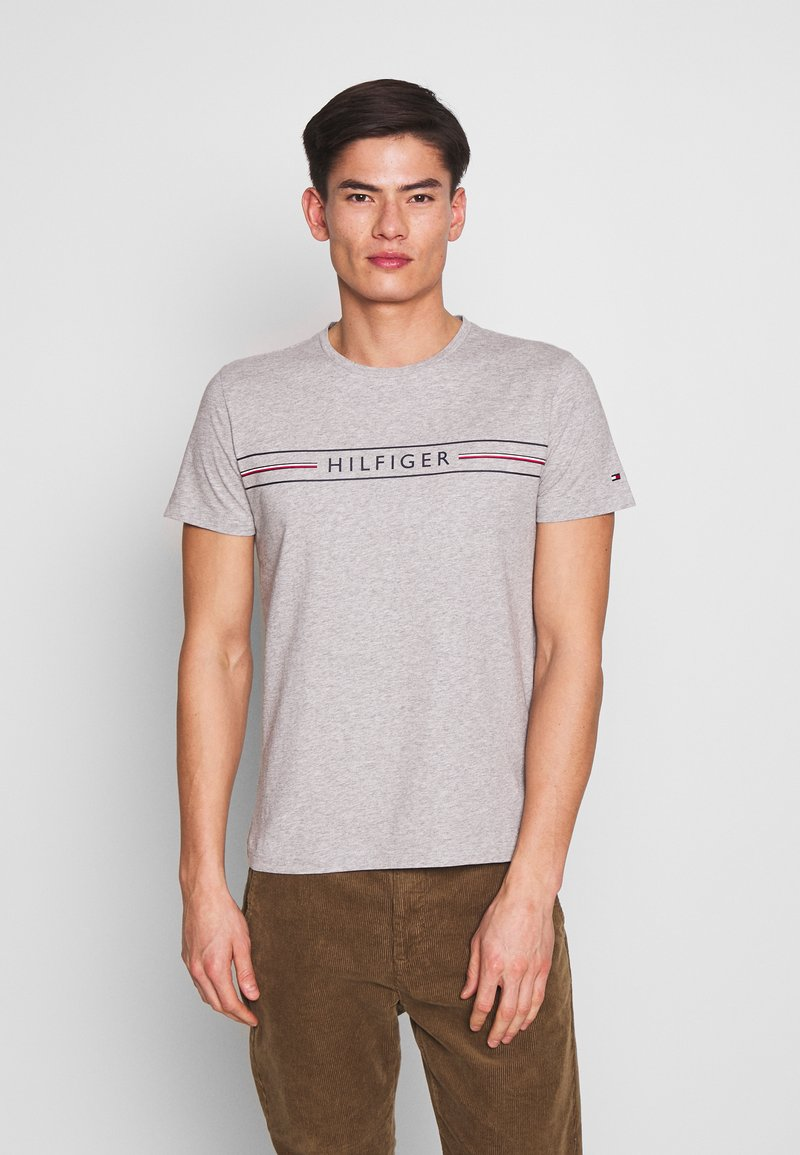 Tommy Hilfiger - CORP TEE - T-shirt con stampa - grey