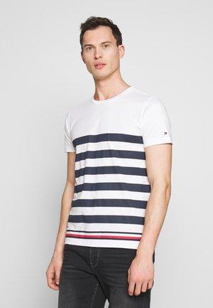 BOLD STRIPE TEE - T-shirt print - blue