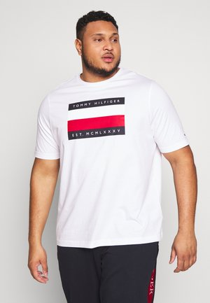 CORP STRIPE BOX TEE - T-shirt con stampa - white