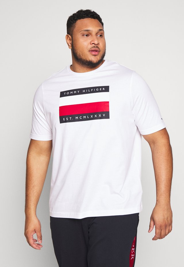 CORP STRIPE BOX TEE - Camiseta estampada - white