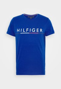 Tommy Hilfiger - GLOBAL STRIPE TEE - T-shirt med print - blue - 4