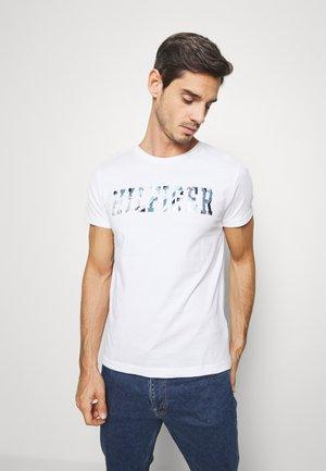 FLORAL TEE - Printtipaita - white