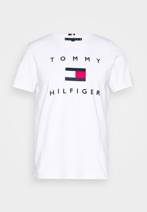 FLAG TEE - T-shirt con stampa - white