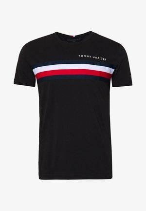 GLOBAL STRIPE TEE - T-Shirt print - black