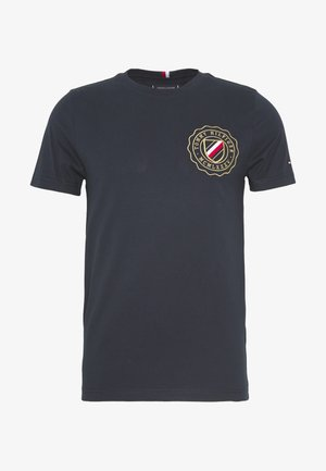 CREST CHEST TEE - Camiseta estampada - blue