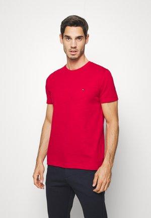 SLUB TEE - Basic T-shirt - red