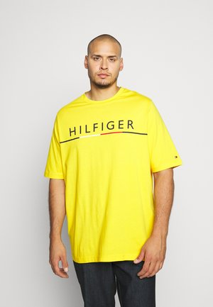 GLOBAL STRIPE TEE - T-shirt print - yellow