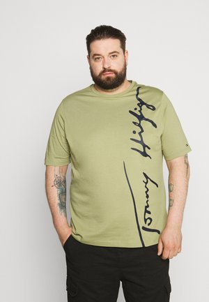 COOL LARGE SIGNATURE TEE - Print T-shirt - green
