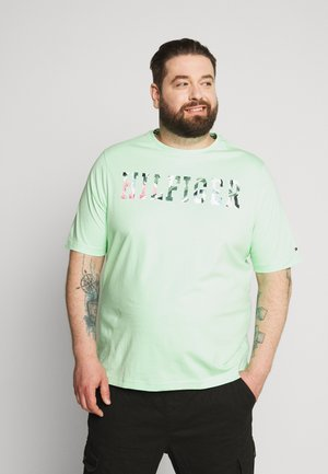 FLORAL TEE - Print T-shirt - green