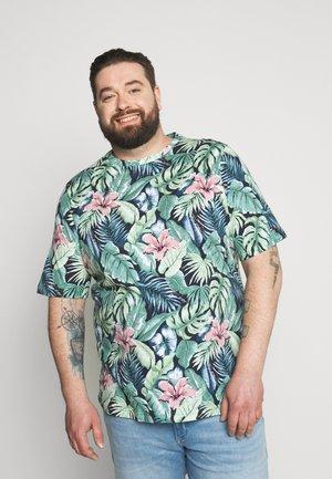 FLOWER PRINT TEE - T-shirt med print - green