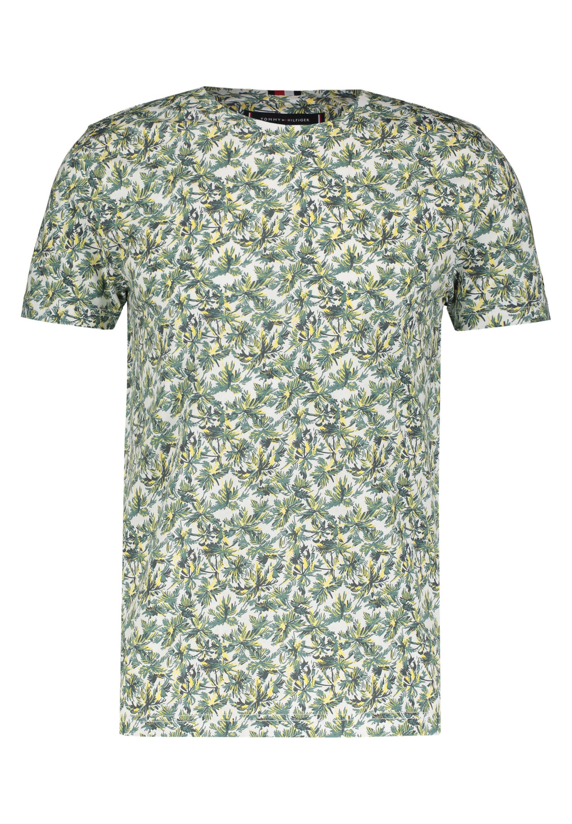 "Tommy Hilfiger TOMMY HILFIGER HERREN T-SHIRT ""ALLOVER LEAF"" - Print T-shirt - weiss (10)"