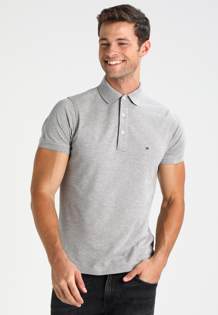 Tommy Hilfiger - SLIM FIT - Poloshirt - cloud heather