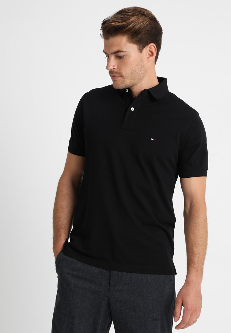 Tommy Hilfiger - CORE REGULAR FIT - Polotričko - flag black