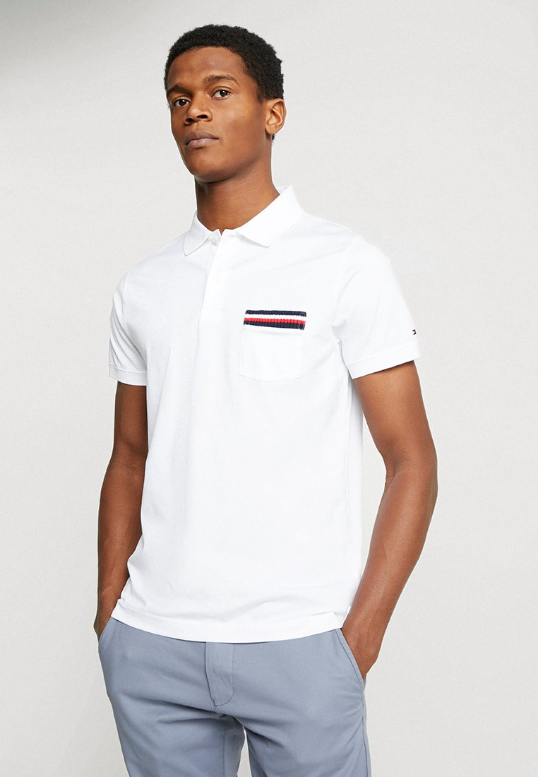 Tommy Hilfiger - TIPPED POCKET SLIM  - Poloshirts - white