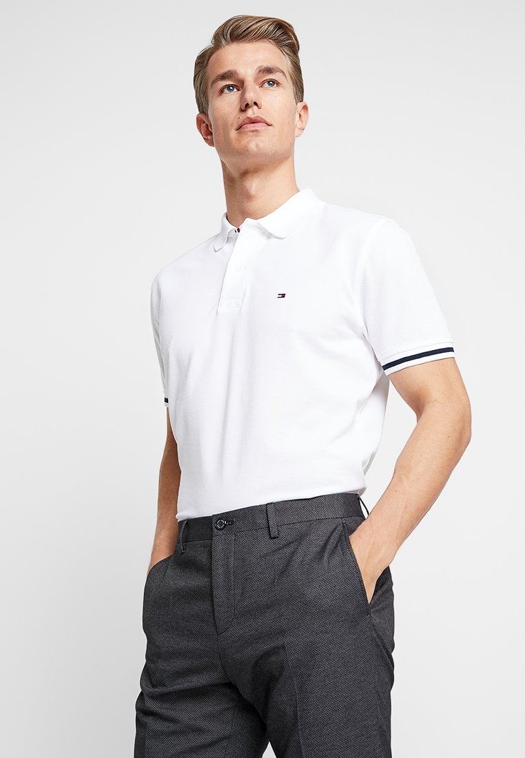 Tommy Hilfiger - CONTRAST TIPPED REGULAR - Polo - white