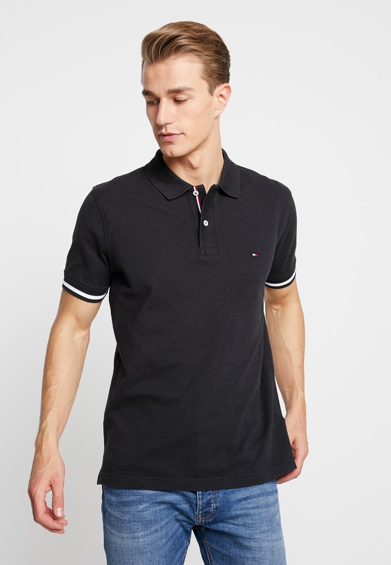 Tommy Hilfiger - CONTRAST TIPPED REGULAR - Poloshirt - black