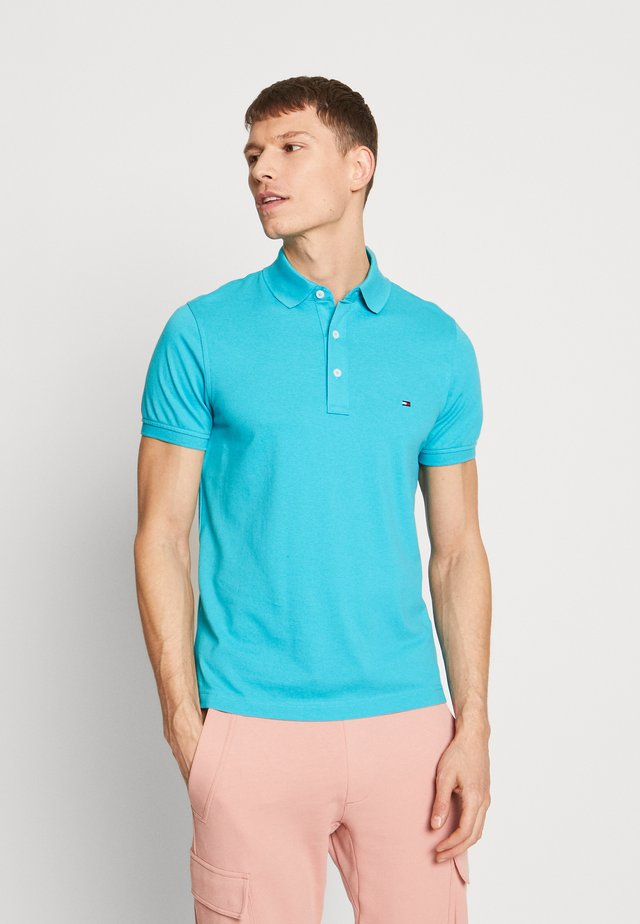 Polo shirt - mottled teal
