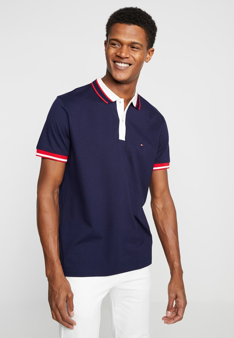Tommy Hilfiger - CONTRAST PLACKET REGULAR  - Poloshirt - blue