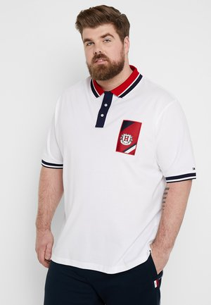CONTRAST PLACKET BADGE - Polo - white