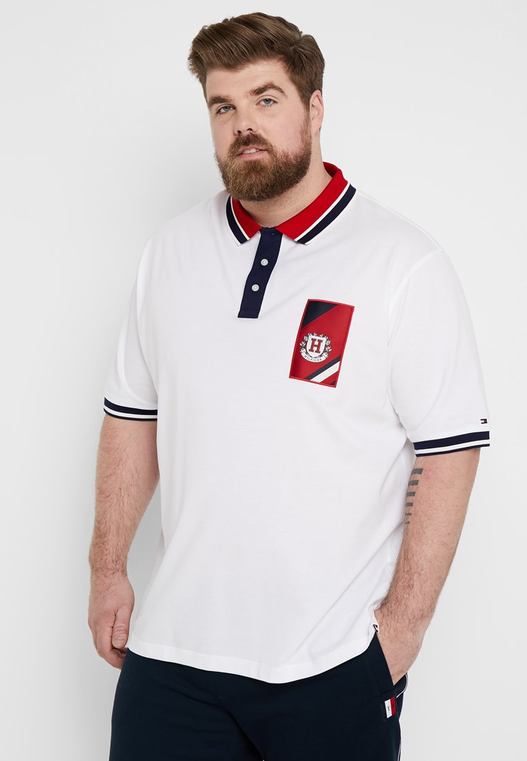 Tommy Hilfiger - CONTRAST PLACKET BADGE - Polo - white