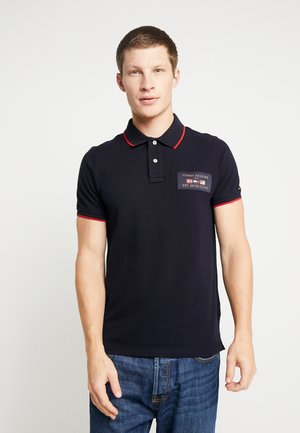 FLAGS BADGE SLIM FIT - Polo shirt - blue