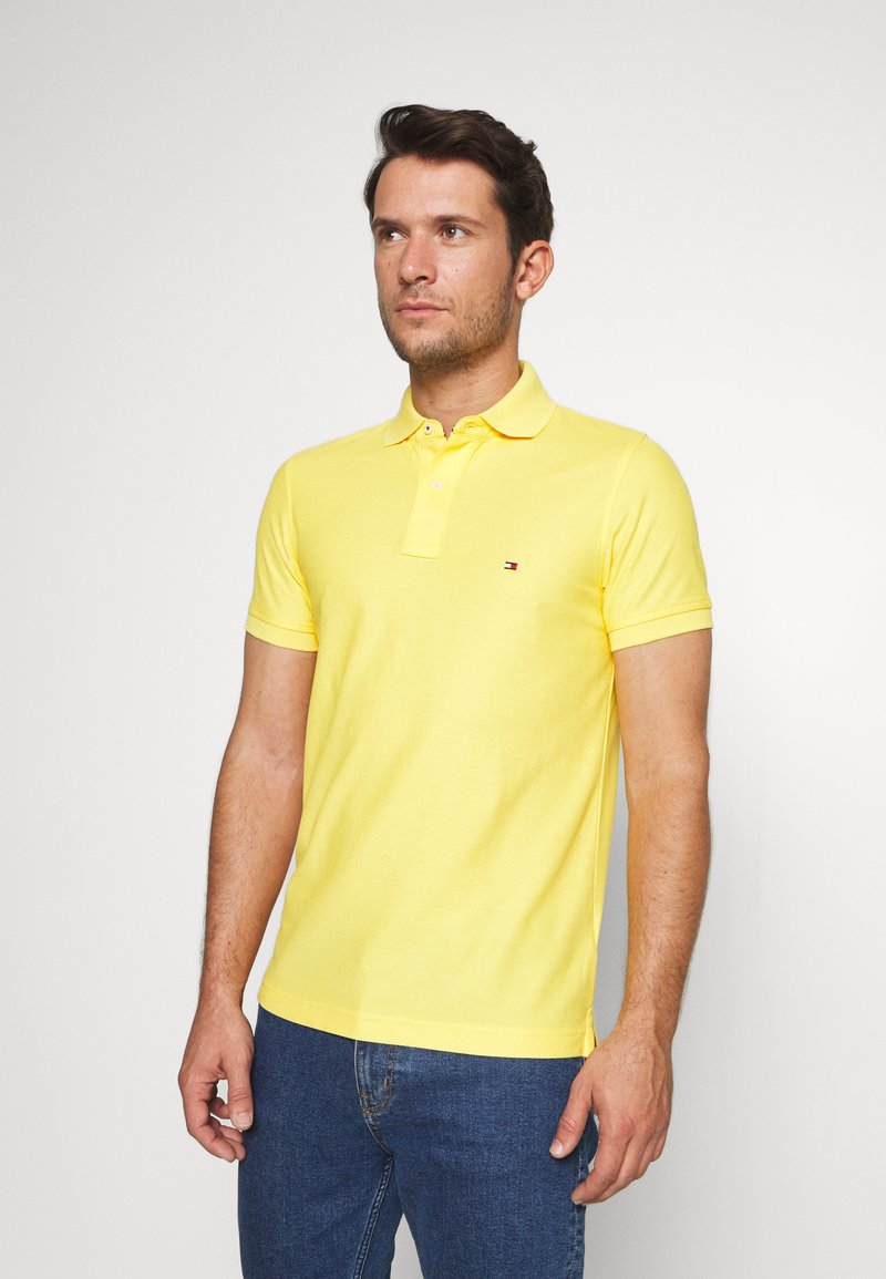 Tommy Hilfiger - HILFIGER SLIM POLO - Piké - yellow