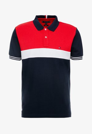 COLORBLOCKED REGULAR - Polo - blue