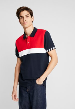 COLORBLOCKED REGULAR - Polo shirt - blue
