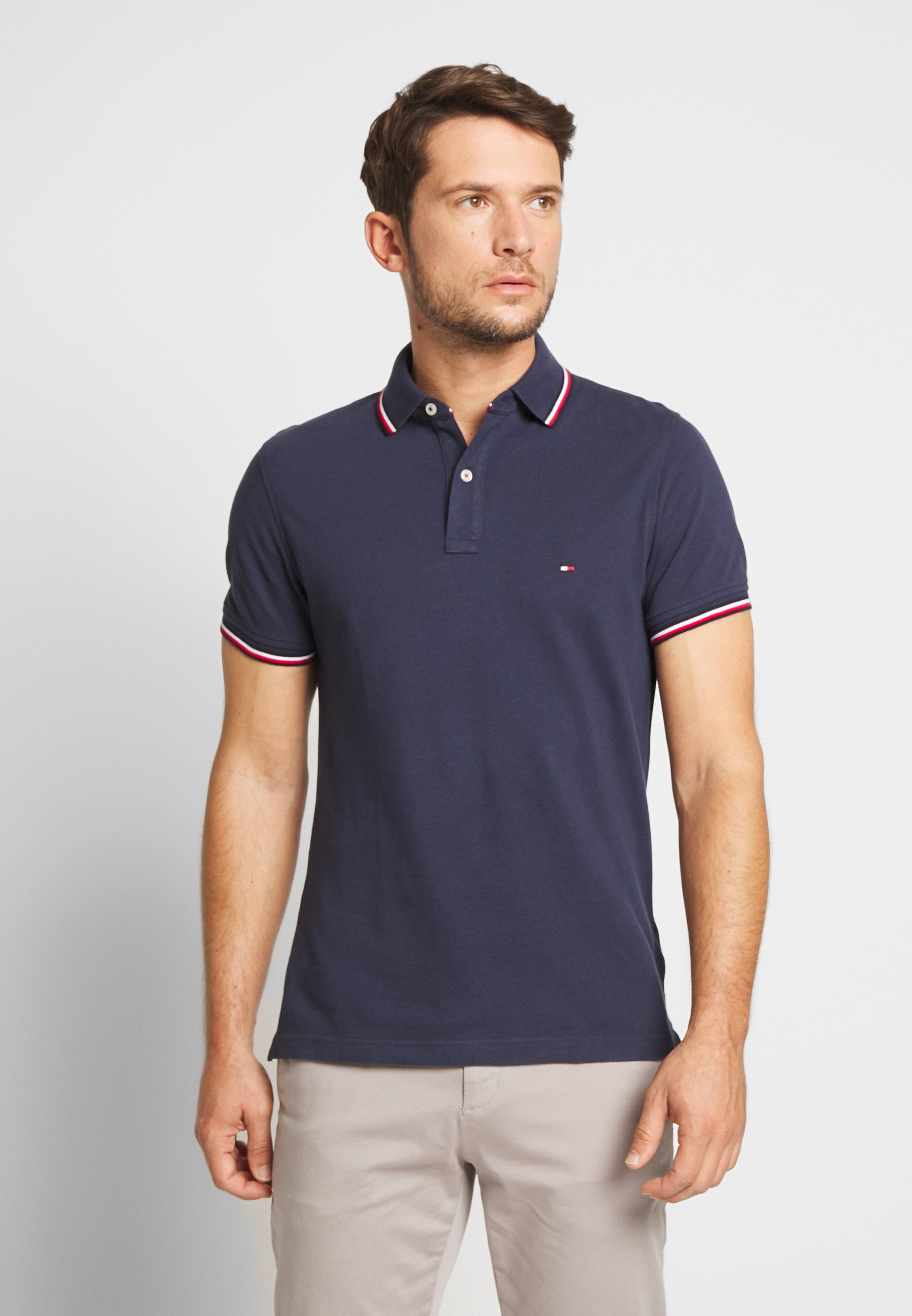 TIPPED SLIM FIT Polo blue
