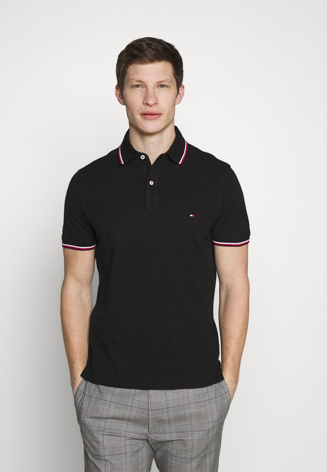 TIPPED SLIM FIT - Poloshirt - black