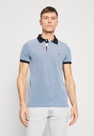 STRUCTURED SLIM FIT - Polo - blue