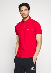 Tommy Hilfiger - POCKET DETAIL SLIM POLO - Polo shirt - red - 0