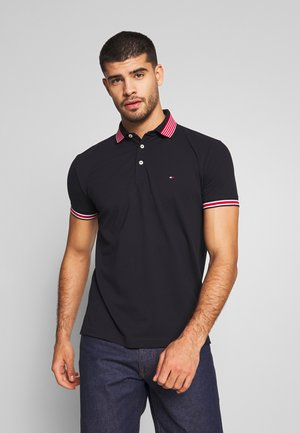 CONTRAST TIPPED COLLAR - Polo shirt - blue
