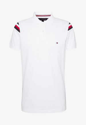SHOULDER INSERT SLIM - Koszulka polo - white