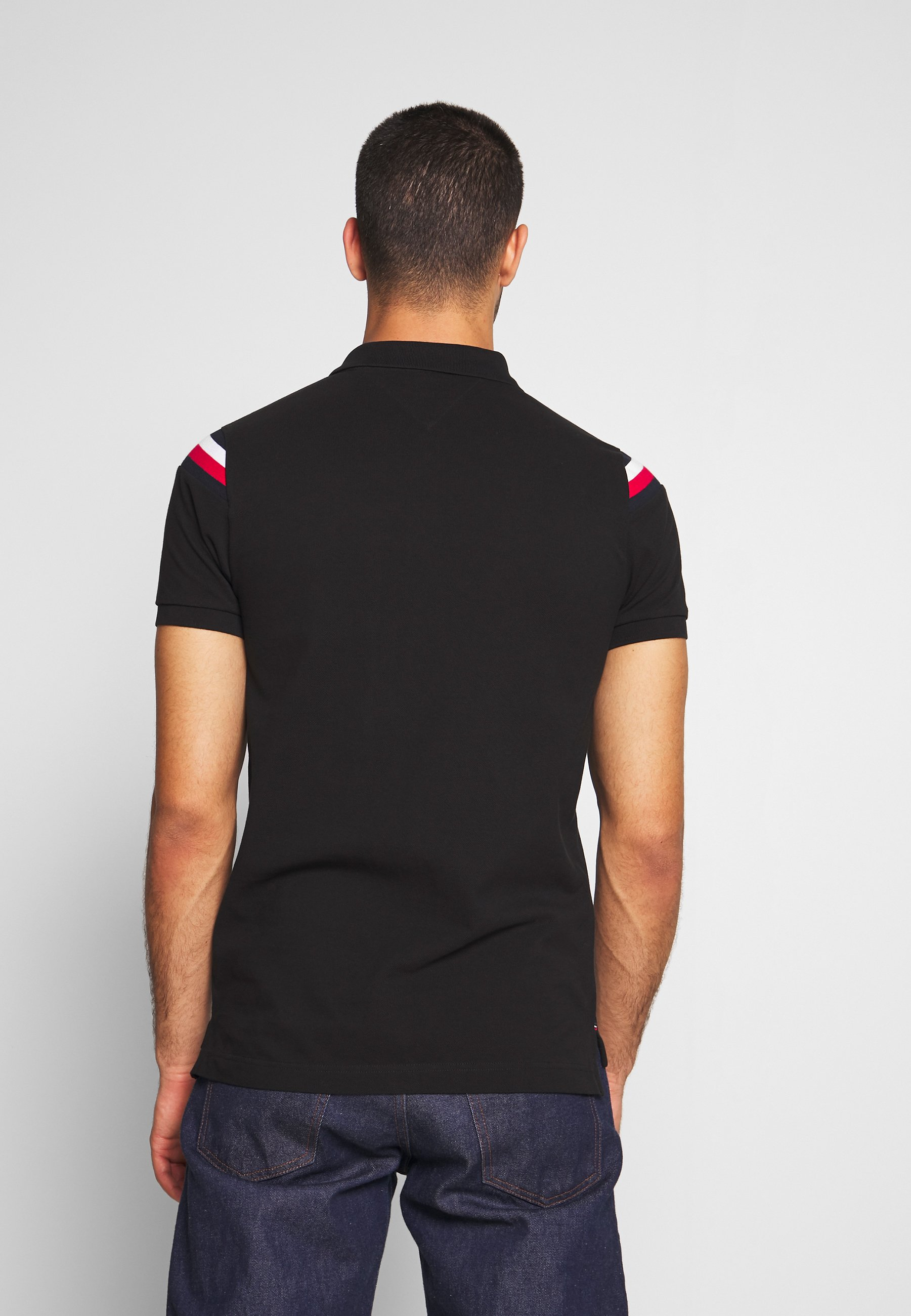 Tommy Hilfiger Shoulder Insert Slim - Piké Black