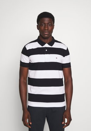 BLOCK STRIPE REGULAR POLO - Polo shirt - blue