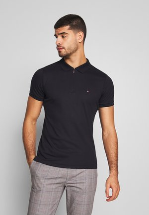 ZIP INTERLOCK SLIM - Polo shirt - blue