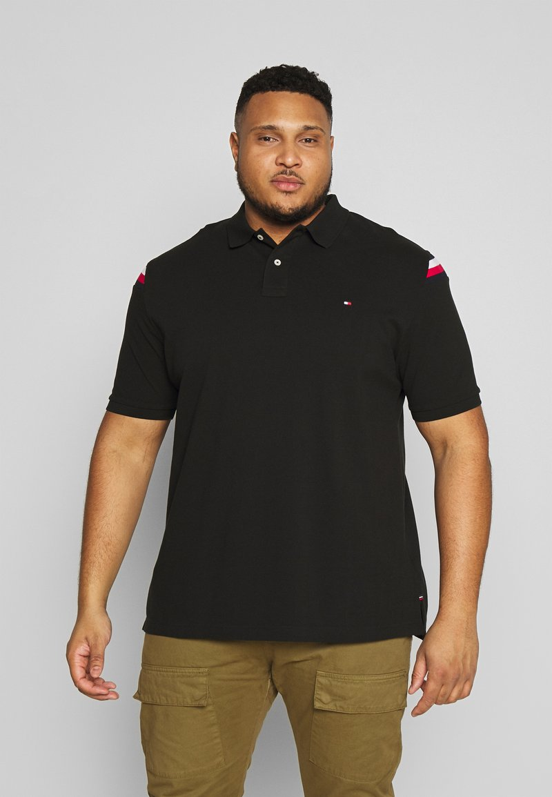 Tommy Hilfiger - SHOULDER INSERT - Poloshirt - black
