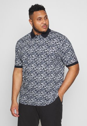 LEAF PRINT REGULAR - Polo shirt - blue