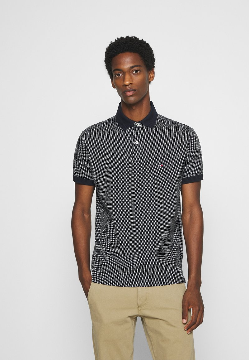 Tommy Hilfiger - MICRO PRINT REGULAR - Polo - blue