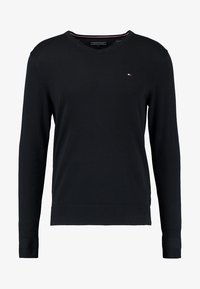 Tommy Hilfiger - V-NECK  - Neule - flag black - 4