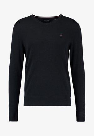 V-NECK  - Stickad tröja - flag black