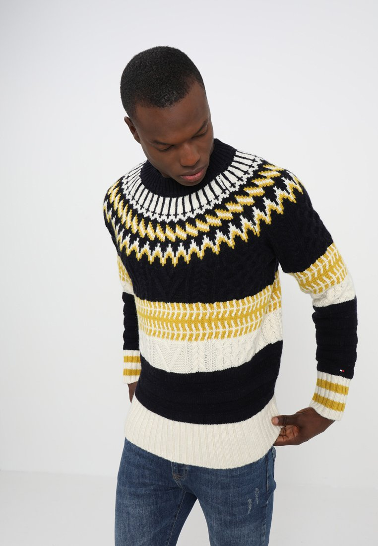 Tommy Hilfiger - FAIR ISLE MIXED RELAXED FIT C-NECK - Neule - blue