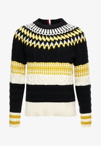 Tommy Hilfiger - FAIR ISLE MIXED RELAXED FIT C-NECK - Neule - blue - 4